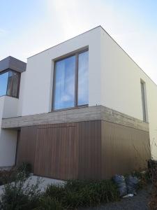 White Bricks, concrete and afrormosia